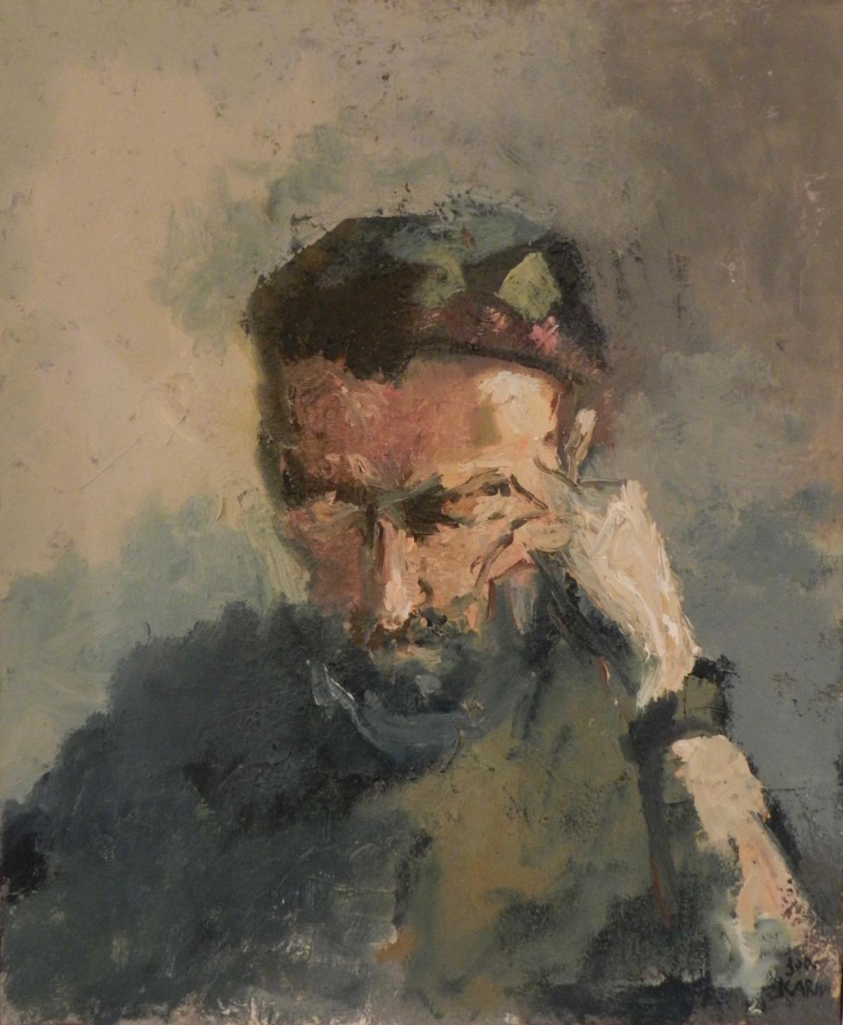 LE CAUCASIEN, acrylique sur toile, cm 70x63