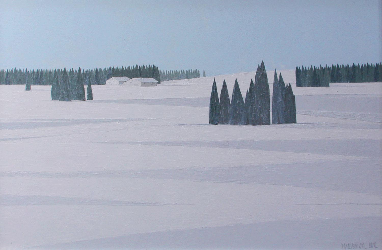 ça peint l'hiver  40 x 60 CM