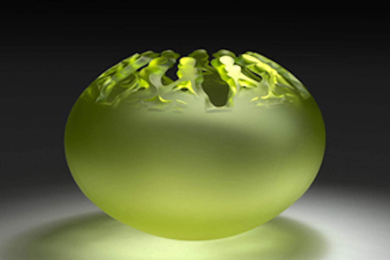 MURMURE, verre soufflé, sablé, D cm 37