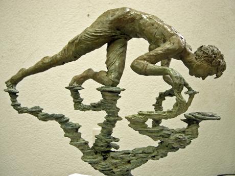LE REFLET, bronze, cm 45 x 40